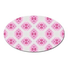 Peony Photo Repeat Floral Flower Rose Pink Oval Magnet