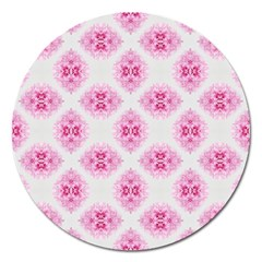 Peony Photo Repeat Floral Flower Rose Pink Magnet 5  (Round)