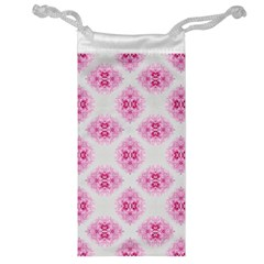 Peony Photo Repeat Floral Flower Rose Pink Jewelry Bag