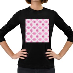 Peony Photo Repeat Floral Flower Rose Pink Women s Long Sleeve Dark T-Shirts