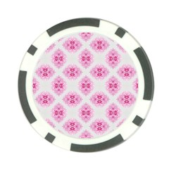 Peony Photo Repeat Floral Flower Rose Pink Poker Chip Card Guard