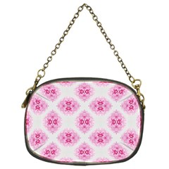 Peony Photo Repeat Floral Flower Rose Pink Chain Purses (One Side)