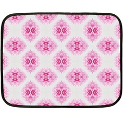 Peony Photo Repeat Floral Flower Rose Pink Double Sided Fleece Blanket (Mini)