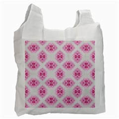 Peony Photo Repeat Floral Flower Rose Pink Recycle Bag (Two Side)