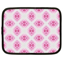 Peony Photo Repeat Floral Flower Rose Pink Netbook Case (XL)
