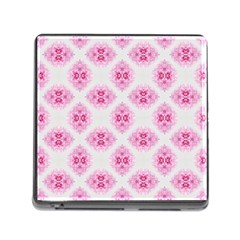 Peony Photo Repeat Floral Flower Rose Pink Memory Card Reader (Square)