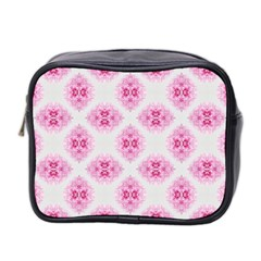 Peony Photo Repeat Floral Flower Rose Pink Mini Toiletries Bag 2-Side