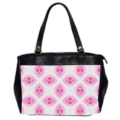 Peony Photo Repeat Floral Flower Rose Pink Office Handbags (2 Sides)