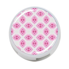 Peony Photo Repeat Floral Flower Rose Pink 4-Port USB Hub (Two Sides)