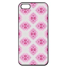 Peony Photo Repeat Floral Flower Rose Pink Apple iPhone 5 Seamless Case (Black)
