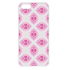 Peony Photo Repeat Floral Flower Rose Pink Apple iPhone 5 Seamless Case (White)