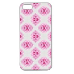Peony Photo Repeat Floral Flower Rose Pink Apple Seamless iPhone 5 Case (Clear)