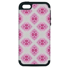 Peony Photo Repeat Floral Flower Rose Pink Apple iPhone 5 Hardshell Case (PC+Silicone)