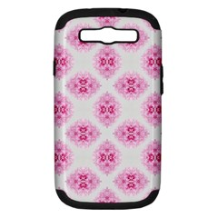 Peony Photo Repeat Floral Flower Rose Pink Samsung Galaxy S III Hardshell Case (PC+Silicone)