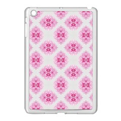 Peony Photo Repeat Floral Flower Rose Pink Apple iPad Mini Case (White)