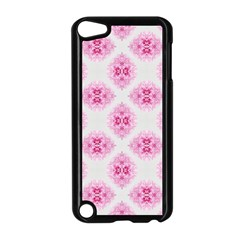 Peony Photo Repeat Floral Flower Rose Pink Apple iPod Touch 5 Case (Black)