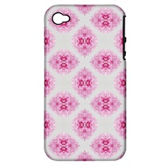 Peony Photo Repeat Floral Flower Rose Pink Apple iPhone 4/4S Hardshell Case (PC+Silicone)