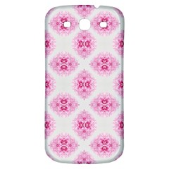 Peony Photo Repeat Floral Flower Rose Pink Samsung Galaxy S3 S III Classic Hardshell Back Case