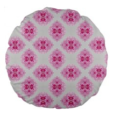 Peony Photo Repeat Floral Flower Rose Pink Large 18  Premium Round Cushions