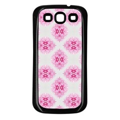 Peony Photo Repeat Floral Flower Rose Pink Samsung Galaxy S3 Back Case (Black)