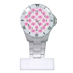 Peony Photo Repeat Floral Flower Rose Pink Plastic Nurses Watch