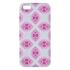 Peony Photo Repeat Floral Flower Rose Pink iPhone 5S/ SE Premium Hardshell Case