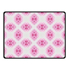 Peony Photo Repeat Floral Flower Rose Pink Double Sided Fleece Blanket (Small)
