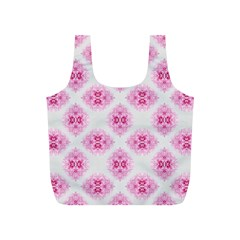 Peony Photo Repeat Floral Flower Rose Pink Full Print Recycle Bags (S)