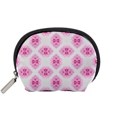 Peony Photo Repeat Floral Flower Rose Pink Accessory Pouches (Small)