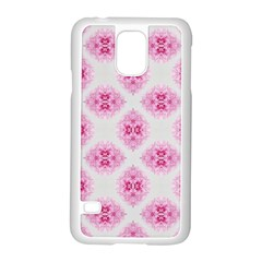 Peony Photo Repeat Floral Flower Rose Pink Samsung Galaxy S5 Case (White)