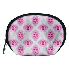 Peony Photo Repeat Floral Flower Rose Pink Accessory Pouches (Medium)