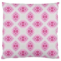 Peony Photo Repeat Floral Flower Rose Pink Large Flano Cushion Case (Two Sides)