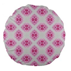 Peony Photo Repeat Floral Flower Rose Pink Large 18  Premium Flano Round Cushions