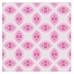 Peony Photo Repeat Floral Flower Rose Pink Large Satin Scarf (Square)