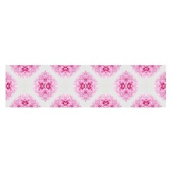 Peony Photo Repeat Floral Flower Rose Pink Satin Scarf (Oblong)