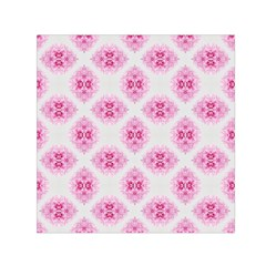 Peony Photo Repeat Floral Flower Rose Pink Small Satin Scarf (Square)