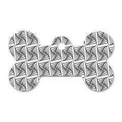 Plaid Black Dog Tag Bone (Two Sides)