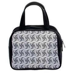 Plaid Black Classic Handbags (2 Sides)