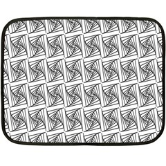 Plaid Black Double Sided Fleece Blanket (Mini)