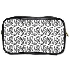 Plaid Black Toiletries Bags 2-Side