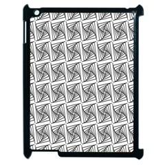 Plaid Black Apple iPad 2 Case (Black)