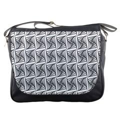 Plaid Black Messenger Bags
