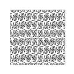 Plaid Black Small Satin Scarf (Square)