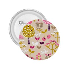 Retro Fruit Leaf Tree Orchard 2.25  Buttons