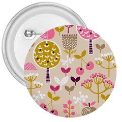 Retro Fruit Leaf Tree Orchard 3  Buttons