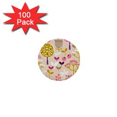Retro Fruit Leaf Tree Orchard 1  Mini Buttons (100 pack)