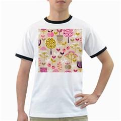 Retro Fruit Leaf Tree Orchard Ringer T-Shirts
