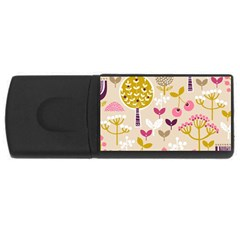 Retro Fruit Leaf Tree Orchard USB Flash Drive Rectangular (4 GB)