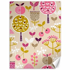 Retro Fruit Leaf Tree Orchard Canvas 36  x 48