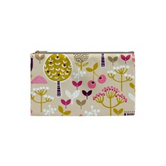 Retro Fruit Leaf Tree Orchard Cosmetic Bag (Small)